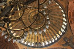Hagia Sofia, Istanbul. A good but quirky depiction of Turkish architecture Stock Photography