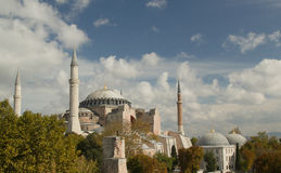 Hagia Sofia in Istanbul view from top Stock Photos