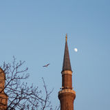 Hagia Sofia minaret Royalty Free Stock Photo