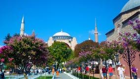 Hagia Sofia Mosque a Costantinopoli fotografia stock libera da diritti