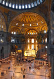 Hagia sofia museum interior in istanbul Royalty Free Stock Photography