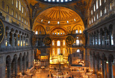 Hagia sofia museum interior in istanbul Stock Photography