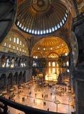 Hagia Sofia Museumsinnenraum in Istanbul lizenzfreies stockbild