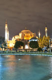 Hagia Sofia at night 01 Stock Image