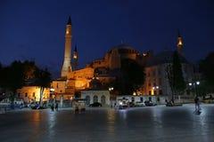 Hagia Sofia At Night Stock Photography