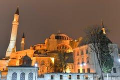 Hagia Sofia at night in Istanbul, Turkey Stock Photography