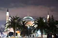 Hagia Sofia by night royalty free stock photography