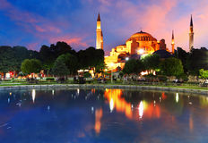 Hagia Sofia With Reflection - Isntanbul Stock Photos