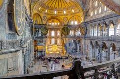Hagia Sophia内部,伊斯坦布尔,土耳其 库存照片
