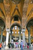 Hagia Sophia博物馆内部  免版税图库摄影