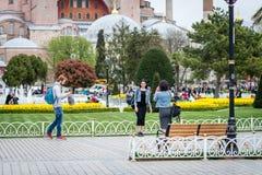 Hagia Sophia博物馆在伊斯坦布尔,土耳其 库存图片