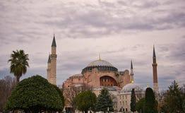 Hagia Sophia à Istanbul en mauvais temps photos stock