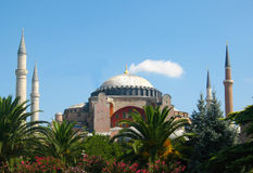 Hagia Sophia – Ayasofya, museum – mosque with high minarets in the city of Istanbul, Turkey Stock Images