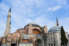 Hagia Sophia προέχουσα στη Ιστανμπούλ Στοκ φωτογραφίες με δικαίωμα ελεύθερης χρήσης