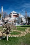 Hagia Sophia στο φως της ημέρας με το πάρκο Στοκ Εικόνες