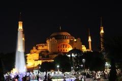 Hagia Sophia τη νύχτα Στοκ Εικόνες