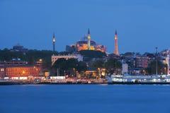 Hagia Sophia в Стамбуле, Турции увиденной от моря Стоковые Фотографии RF