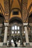 Hagia sophia. Interior of hagia sophia. Valentine's praying in the Hagia Sophia istanbul-Turkey Royalty Free Stock Photos