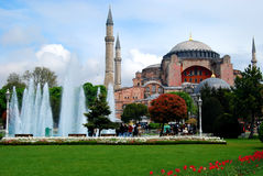 Hagia Sophia. In Istanbul, Turkey viewed from the Sultan Ahmed Park Stock Photos