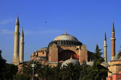 Hagia Sophia. Overview of historic the Hagia Sophia Mosque Royalty Free Stock Photography