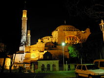 Hagia Sophia. (Aya Sophia) in Istanbul, Turkey, by night Stock Photo