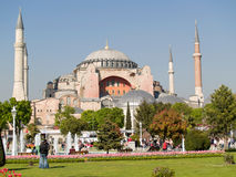 Hagia Sophia. The monument most famous of Istanbul - Turkey Royalty Free Stock Photos