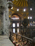 Hagia Sophia. Inside of Hagia Sophia, The monument most famous of Istanbul - Turkey Royalty Free Stock Image
