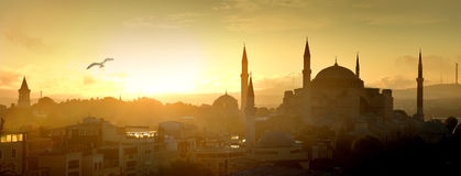 Hagia Sophia ad alba Fotografie Stock