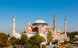 Hagia Sophia against the blue sky Royalty Free Stock Images