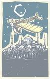Hagia Sophia Airplane Night Illustration Libre de Droits