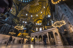 The Hagia Sophia (also called Hagia Sofia or Ayasofya) interior Royalty Free Stock Photography