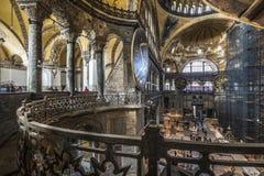 The Hagia Sophia (also called Hagia Sofia or Ayasofya) interior Royalty Free Stock Photos