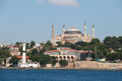 Hagia Sophia And Architecture Istanbul, View From Bosphorus Strait. Turkey Stock Photography