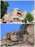 Hagia Sophia arkitektur, Istanbul, Turkiet Fotografering för Bildbyråer