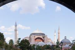 Hagia Sophia As Seen dal tubo principale blu della moschea Immagine Stock Libera da Diritti