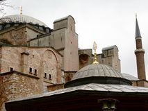 Hagia Sophia (Aya Sofia) in Istanboel, Turkije Royalty-vrije Stock Afbeelding