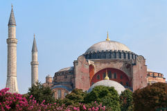 Hagia Sophia in Istanbul. The old cathedral and mosque of Hagia Sophia now serving as a museum in Istanbul, Turkey Royalty Free Stock Images