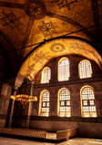 Hagia Sophia (Ayasofya) in Istanbul. Interior of the Hagia Sophia, Istanbul. Hagia Sophia (Ayasofya) is the greatest monument of Byzantine Culture. It was built stock photo