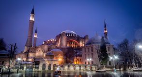Hagia Sophia - Ayasofya in Istanbul, Turkey. View of Hagia Sophia, Christian patriarchal basilica, imperial mosque and now a museum (Ayasofya Muzesi), Istanbul stock photography