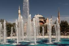 Hagia Sophia (Ayasofya) Museum Exterior Behind a Fountain Stock Photos
