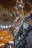 Hagia Sophia (Ayasofya) ornamental ceiling. Byzantine architecture in Istanbul, Turkey Royalty Free Stock Photo