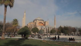Hagia Sophia or Ayasophya, Famous mosque in Istanbul stock footage