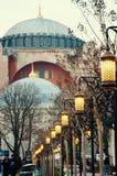 Hagia Sophia. Beautiful lanterns near Hagia Sophia in Istanbul Stock Image