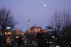 Hagia Sophia bij nacht royalty-vrije stock foto