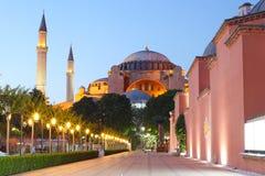 Hagia Sophia bij nacht, Istanboel Stock Fotografie