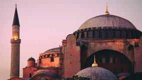 Hagia Sophia bij schemer royalty-vrije stock foto