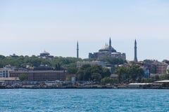 Hagia Sophia from the Bosphorus river. Istanbul, Turkey Stock Photos