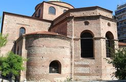 Hagia Sophia Byzantine church in Thessaloniki Royalty Free Stock Images