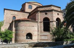 Hagia Sophia Byzantine church in Thessaloniki Royalty Free Stock Image