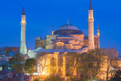 Hagia Sophia Byzantine kyrka Istanbul Turkiet royaltyfri fotografi